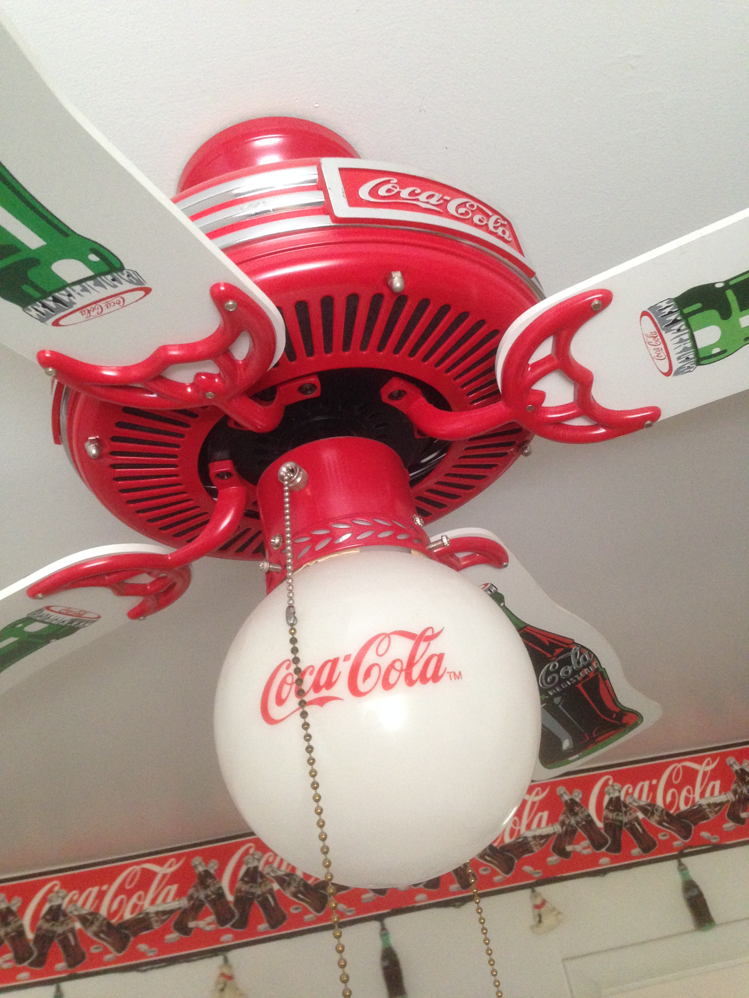 Hyattsville estate sale packed with collectibles coca cola room coca cola lighted fan for sale aloadofball Gallery